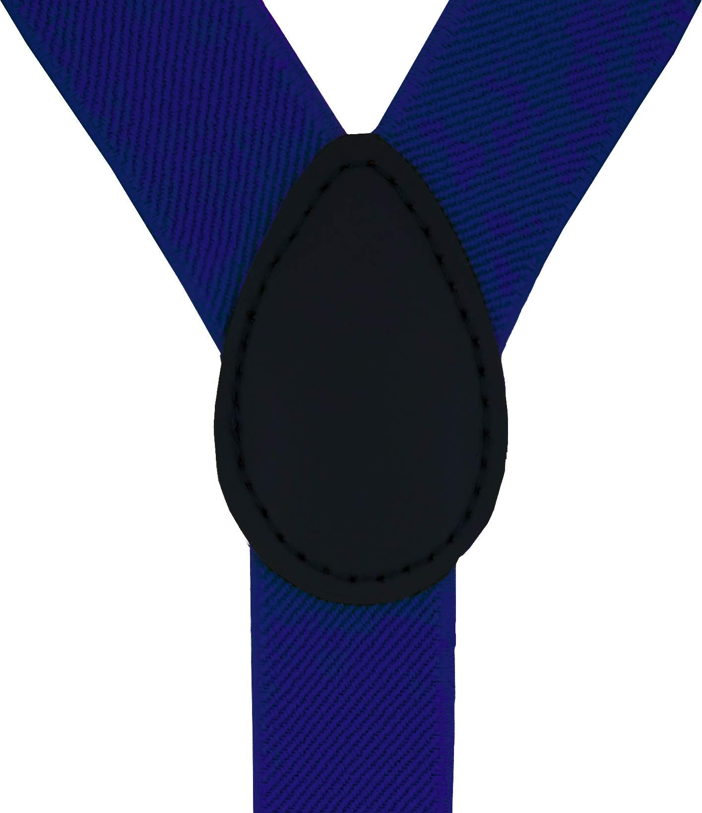 Navisima Suspender With Bowtie for Kids Elastic Y-Back Design with Strong Metal Clips Royal Blue