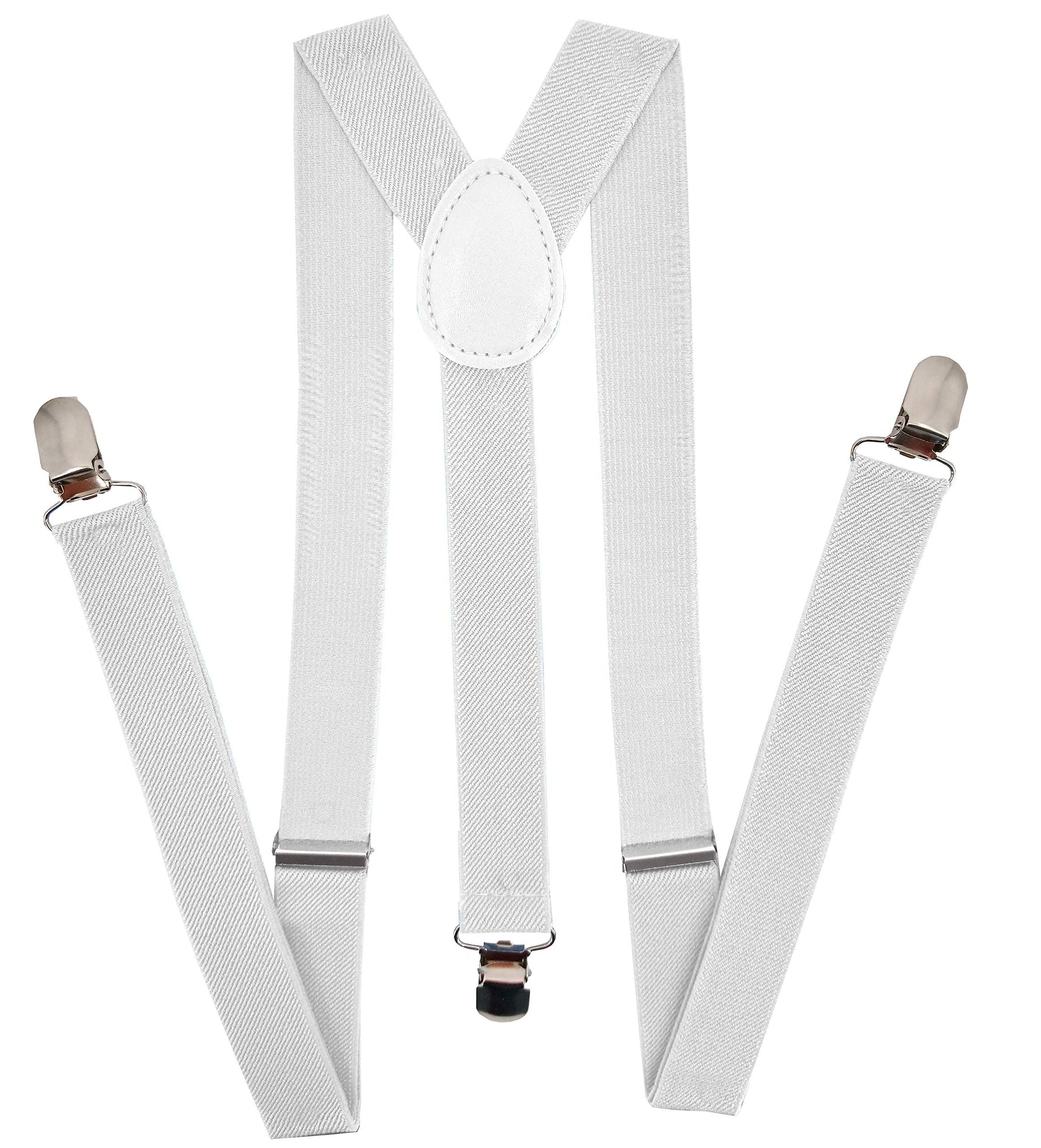 Suspenders 1 Inch Y Back Style Elastic Adjustable Straps for Men and Women