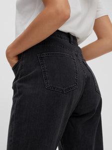 NMISABEL MOM JEANS BLACK STONE