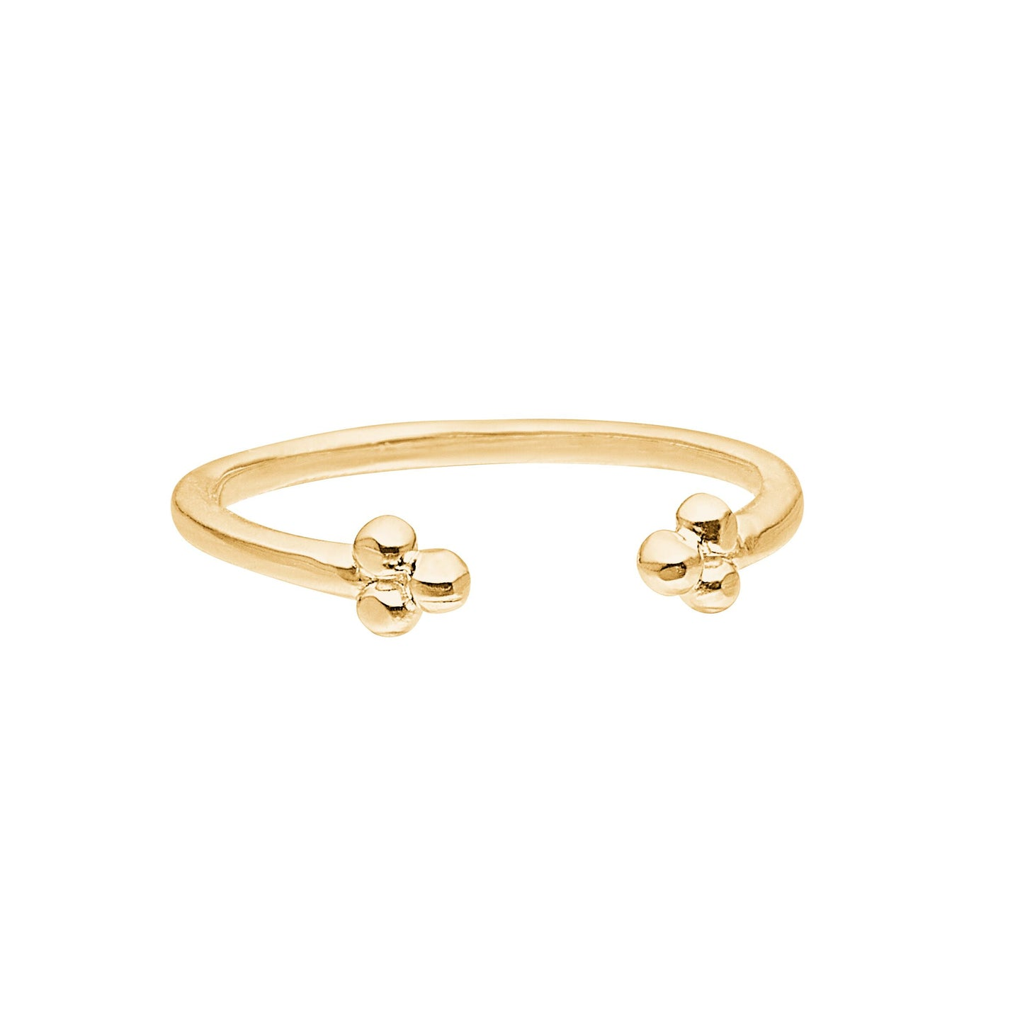 RING, SIMPLE FLOWER - GULD
