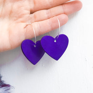 Medium Purple Hearts