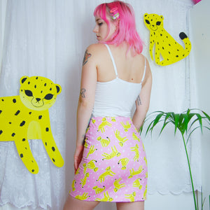 Foundling Studio x Rate Cute Cheetah Skirt