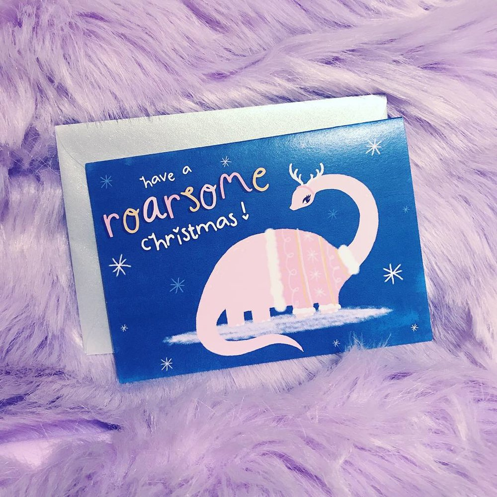 'Have a Roarsome Christmas' Card