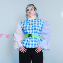 Load image into Gallery viewer, Upcycled Pastel Colour Block Half-Zip Pullover