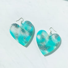 Load image into Gallery viewer, Large Blue Sparkly Waters Hearts