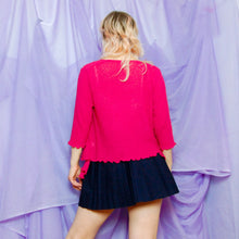 Load image into Gallery viewer, Pink Knit Shrug Cardigan