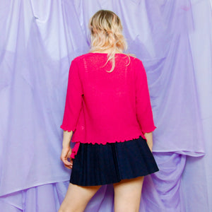 Pink Knit Shrug Cardigan
