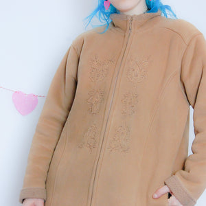 Tan Faux Suede Coat