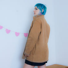 Load image into Gallery viewer, Tan Faux Suede Coat