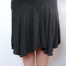 Load image into Gallery viewer, Black Polka Midi Skirt