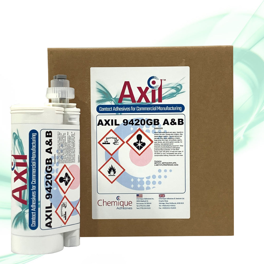 Axil 9420GB Two-Component Methacrylate Structural Adhesive with Glass Bead Shims