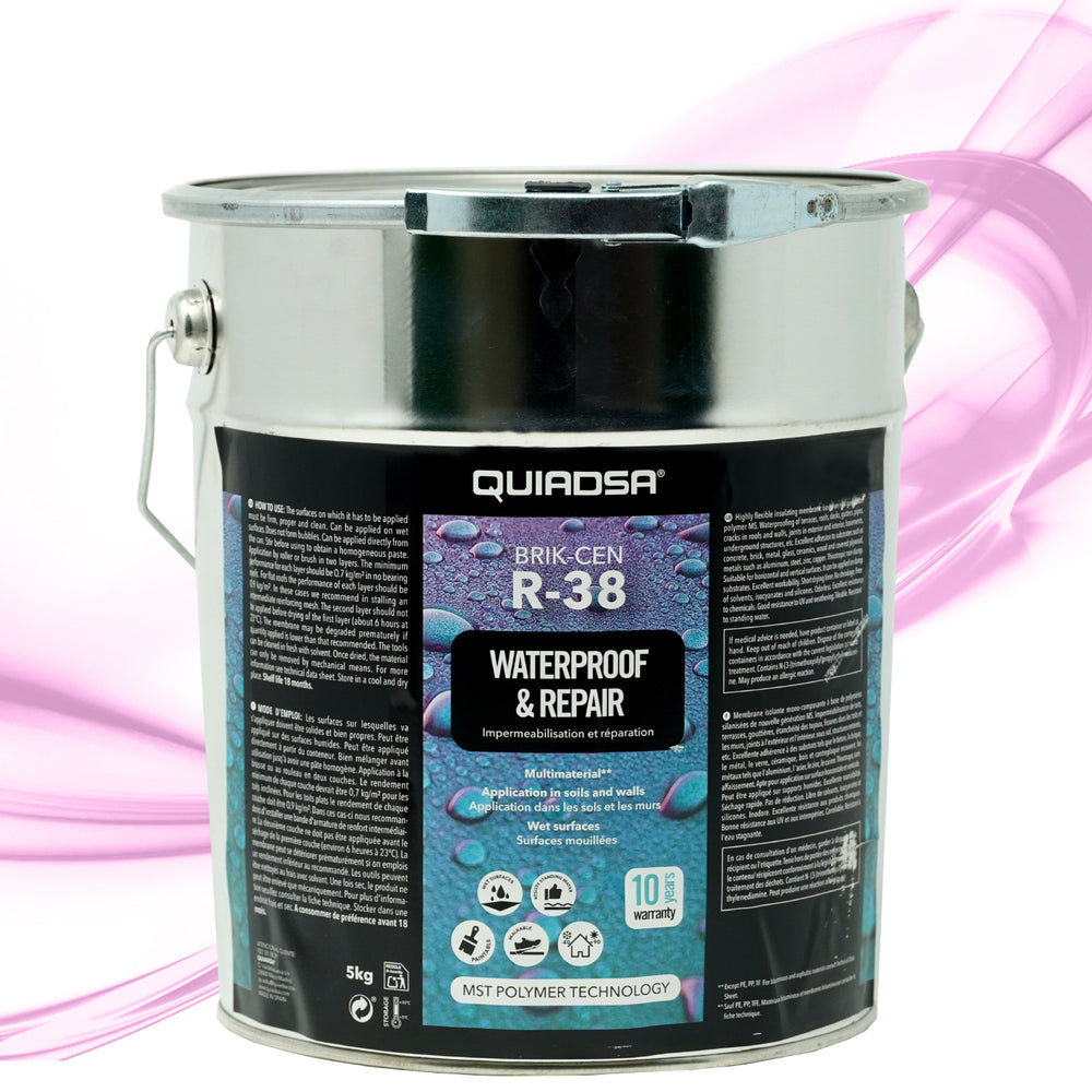 Quiadsa Brik-Cen R-38 Waterproofing Sealer - 1.3 Gallon Bucket