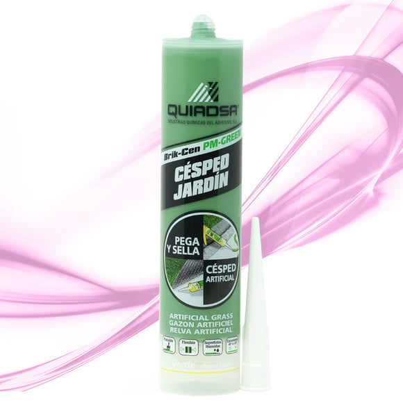 Quiadsa PM-Green Synthetic Turf Adhesive - Green - 1 CARTRIDGE