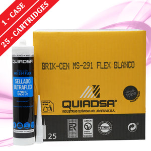 Quiadsa MS-291 Ultraflex Construction Adhesive and Sealant - WHITE