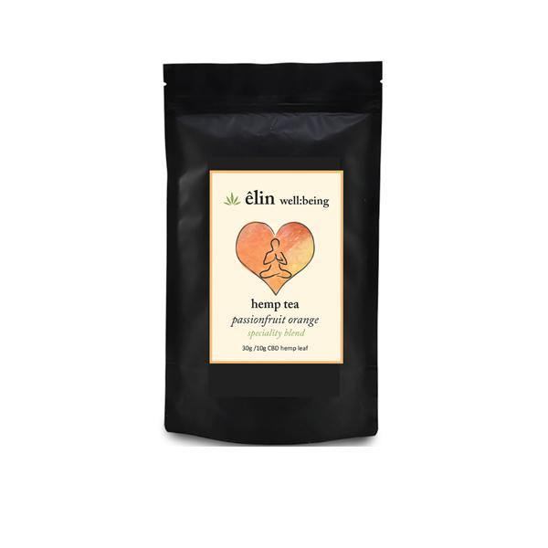 Êlin Well:being 10mg CBD Hemp Tea 30g - Passionfruit Orange - ActivelyCBD