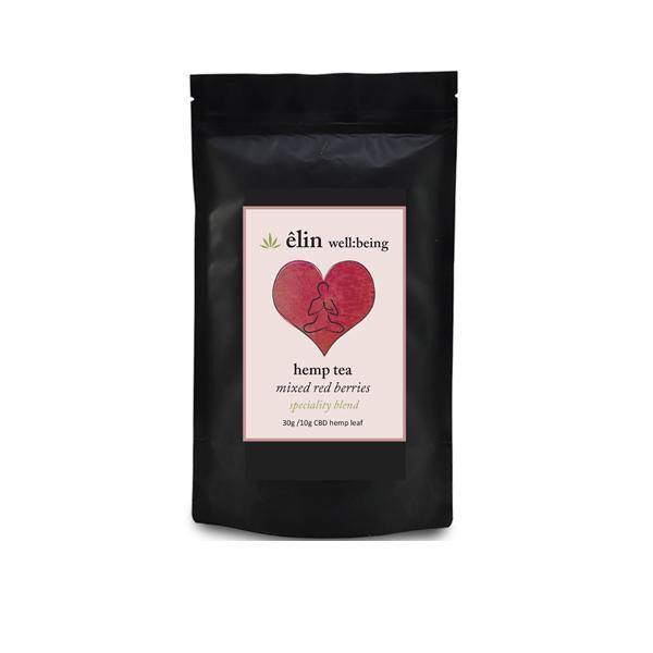 Êlin Well:being 10mg CBD Hemp Tea 30g - Mixed Red Berries (Green Tea) - ActivelyCBD