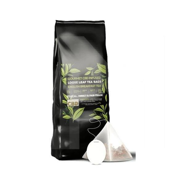 Equilibrium CBD Gourmet Loose Leaf Tea Bags - English Breakfast Tea - ActivelyCBD