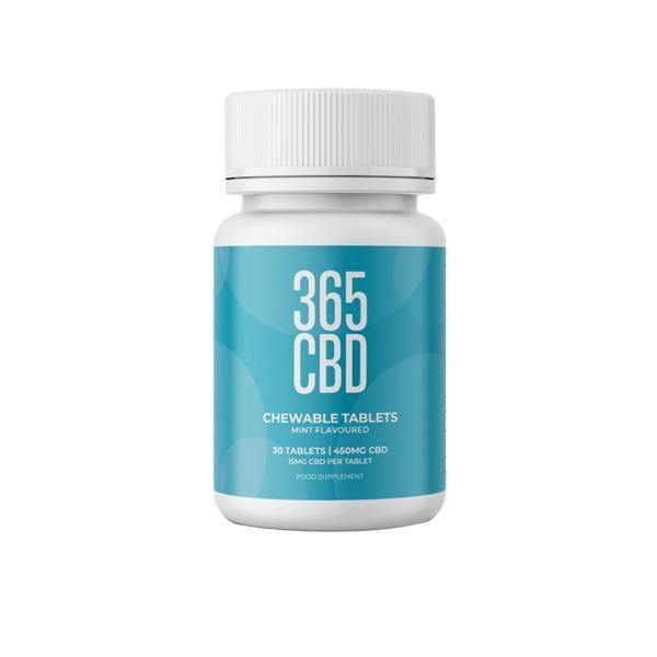 365CBD Chewable Tablets 450mg CBD 30 Tablets - ActivelyCBD