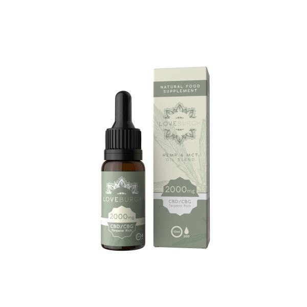 Loveburgh 2000mg MCT CBD Oil 10ml