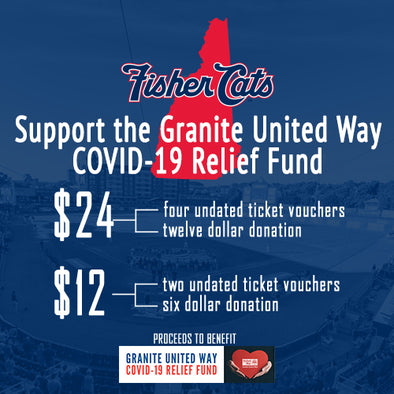 New Hampshire Fisher Cats Support COVID-19 Relief Fund