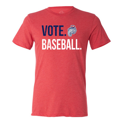 Vote Baseball Red