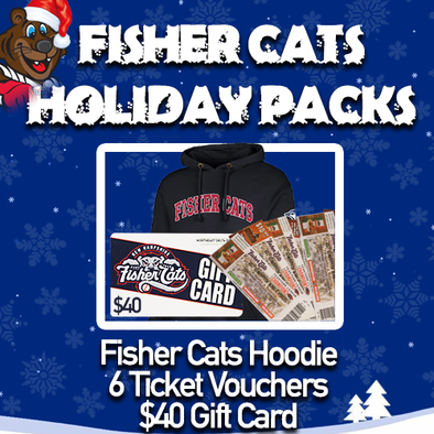 New Hampshire Fisher Cats Hoodie Holiday Pack