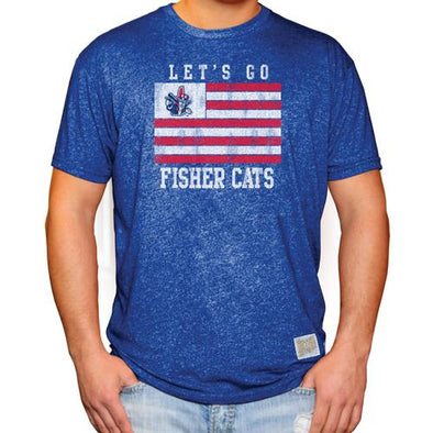 New Hampshire Fisher Cats Let's Go Flag Tee