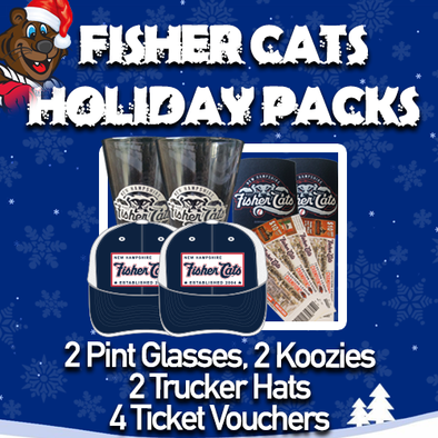 New Hampshire Fisher Cats Novelty Holiday Pack