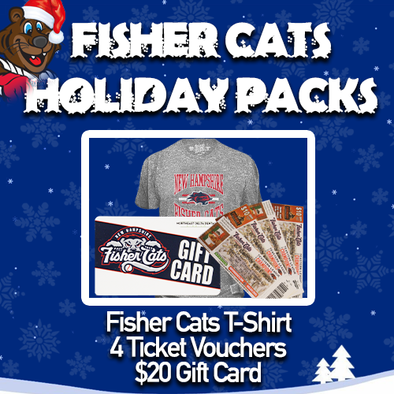 New Hampshire Fisher Cats T-Shirt Holiday Pack