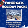 New Hampshire Fisher Cats Blanket Holiday Pack