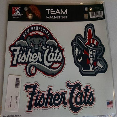 New Hampshire Fisher Cats Team Magnet Set