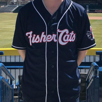 New Hampshire Fisher Cats Navy Road Replica Jersey