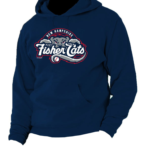 New Hampshire Fisher Cats Navy Primary Hoodie