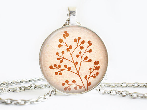 Autumn Leafs Necklace, Autumn necklace,floral necklace, Floral Art Pendant,branch pendant, nature charm, branch charm,gift for women