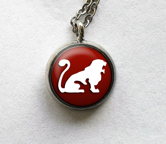 Leo Necklace, Leo Pendant, Astrology Charm, Zodiac Charm, Astro Jewelry, Astro Leo Glass Jewelry, Glass Pendant Necklace, Glass Art Pendant,