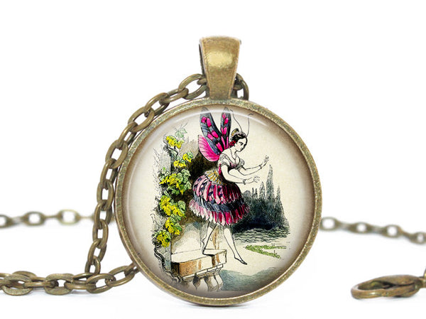 Fairy Necklace, Fairytale Necklace, Fairytale Pendant, Elves Pendant, Fantasy necklace, Woodland Fairy, Fairy Pendant, Enchanting Fairytale