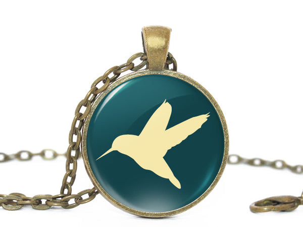Flying Bird necklace, Bird necklace, Bird Pendant, Nature Photo necklace , Birthday Gift,  Teal Blue Beige, Gift for Women,Gift for Girls,