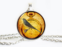 Grey Yellow Bird on a leaf Necklace,Bird necklace,Yellow necklace, Bird Pendant, Bird pendant, Yellow pendant, animal charm, gift for women