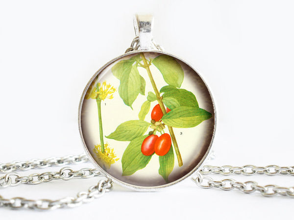 Orange Sea Buckthorn Necklace, Berries necklace,Fruit necklace, Fruit Art Pendant, Orange Sea Buckthorn pendant, Fruit charm, gift for women