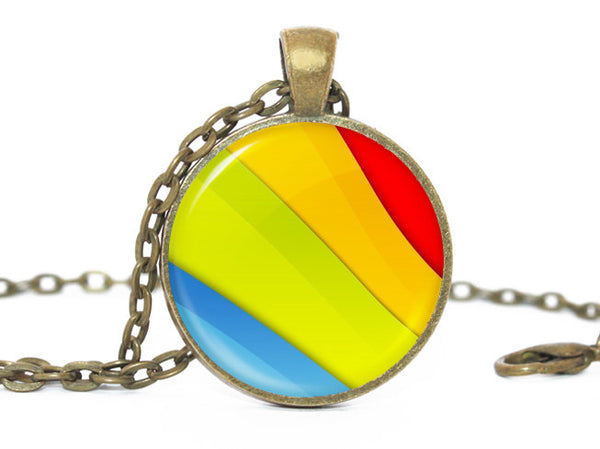 Rainbow Gay Pride necklace, lgbt,Gay pride, Red yellow green blue pendant, Red yellow green blue necklace, Rainbow Necklace, Rainbow Pendant