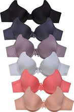 Load image into Gallery viewer, MaMia Women's Full Cup Push Up Lace Bras (Pack of 6)
