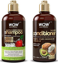 Load image into Gallery viewer, WOW Apple Cider Vinegar Shampoo & Hair Conditioner Set (All Hair Types)