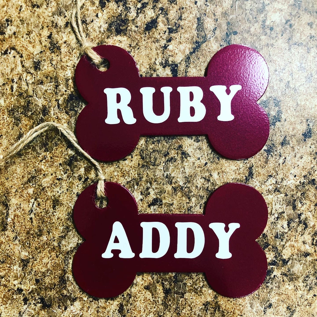 Personalized Dog Bone Ornaments