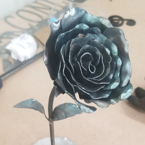 Powder Coated Metal Rose