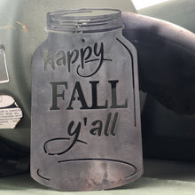 Load image into Gallery viewer, Happy Fall Y'all Mason Jar