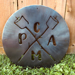 Camp Sign Signs Force Designs LLC Force Designs LLC birthday, camp, camping, fathers day, garage art, metal art, metal sign, smores