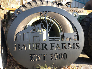 Custom Farm Sign