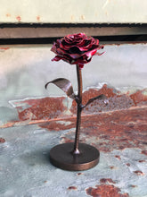 Load image into Gallery viewer, Powder Coated Metal Rose