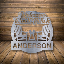Load image into Gallery viewer, Welcome to our Porch Monogram