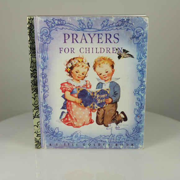 "Dixon, Rachel Taft (Illus.). Prayers for Children (Little Golden Book #5; 50th Anniversary Printing, 1992 ""A"")."